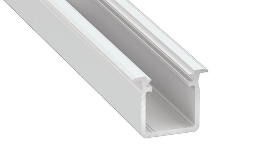 G Type G White Aluminum Profile 1m + Milk Cover