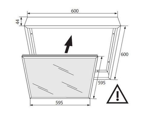 600 X600 White Frame For Led Panel