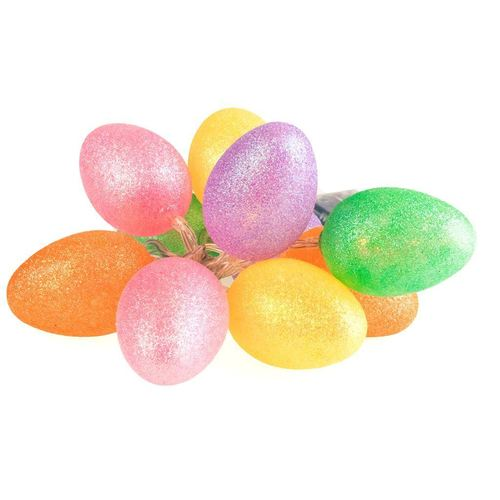 Big Plastic LED Easter Eggs With Colorful Glitter 1 Green