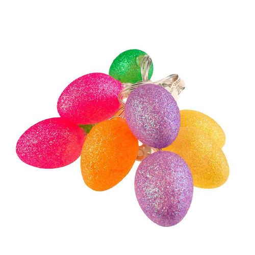 Small Plastic LED Easter Eggs With Glitter