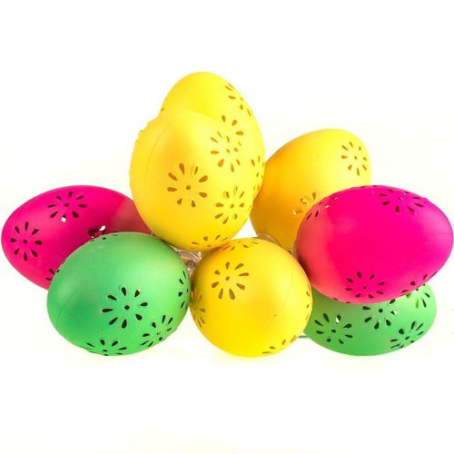 Plastic LED Easter Eggs With Pattern